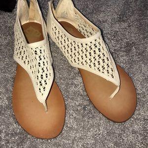 Fergalicous cream colored sandal